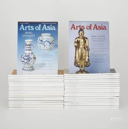A Group of Forty-Five Arts of Asia Magazines (2007-2015) (45 Pieces)
