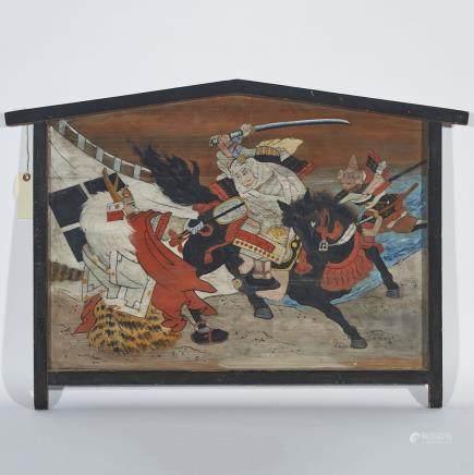 """An 'Ema' Wood Votive Plaque, Edo period, length 31"""" — 78.7 cm."""