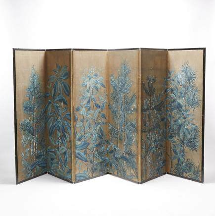 "A Six-Panel Japanese Paper Screen, height 60"" — 152.4 cm."
