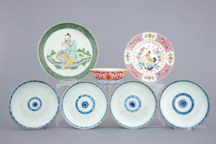 A varied lot of Chinese porcelain, 18/19th C.