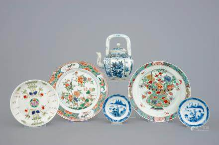 A collection of various Chinese porcelain, 17/19th C.