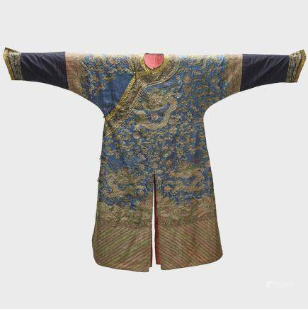"A 'Kesi' Ceremonial Robe (Jifu), 19th Century, 51.5"" x 69.5"" — 130.8 x 176.5 cm."