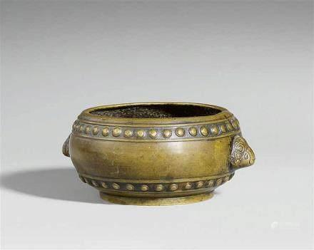 A bronze incense burner. 19th century