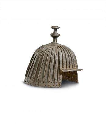 An iron helmet. Qing dynasty