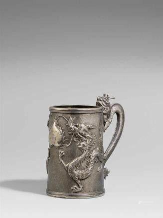 A silver mug. Hong Kong. Late 19th century