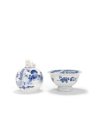 TWO BLUE-AND-WHITE PORCELAIN VESSELS