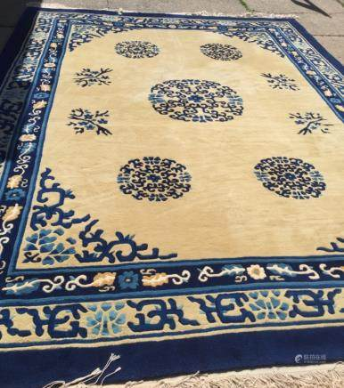 Good Chinese Ningxia Carpet; 9 X 12 Foot