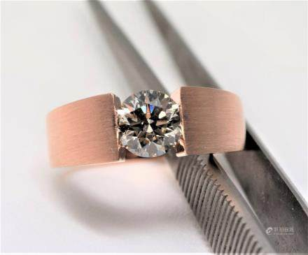 18K Rose Gold GIA Certified 1.19ct Diamond Man's R