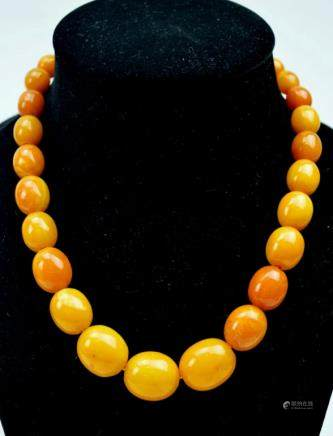 36.6 Grams Butterscotch Amber Oval Beads