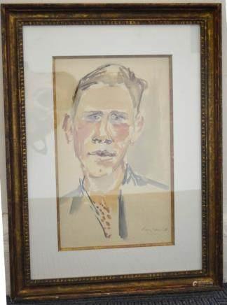Eduard Bargheer; WC Portrait Horst W Jansen