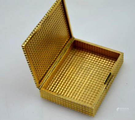 Cartier 14K Yellow Gold Cigarette Case; 81G