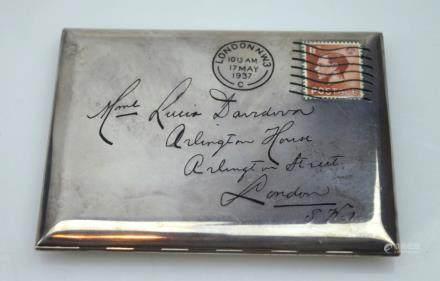 "Alfred Dunhill; Surrealist ""Letter"" Cigarette Case"