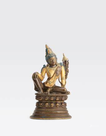 A copper alloy figure of Avalokitesvara Qing dynasty, Pala Revival, 18th/19th century