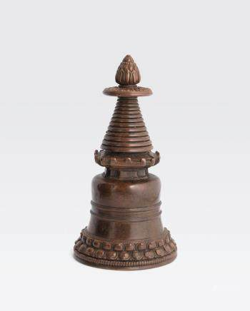 A COPPER ALLOY STUPA Tibet, 13th/14th century