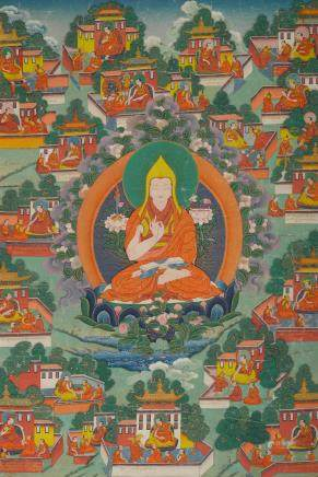 A THANGKA OF TSONGKHAPA Central Tibet, 19th century