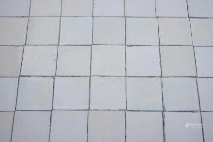A set of ca. 350 plain white Dutch Delft tiles, 18th C.