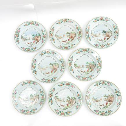 Lot of 8 Plates