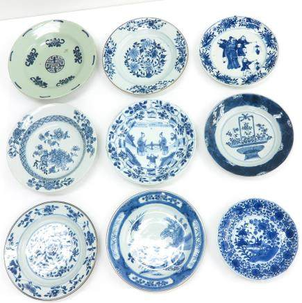 Lot of 9 Plates