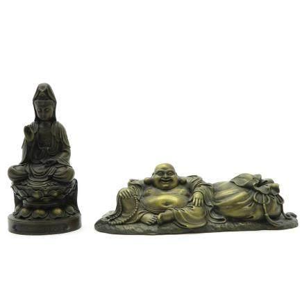 Lot of 2 Bronze Sculptures