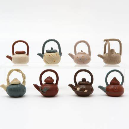 Lot of 8 Miniature Teapots