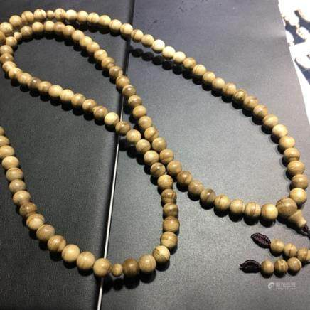 A NATURAL AGILAWOOD BEADS BRACELET