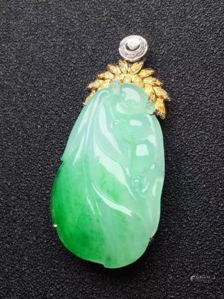 NATURAL ICY JADEITE PENDANT
