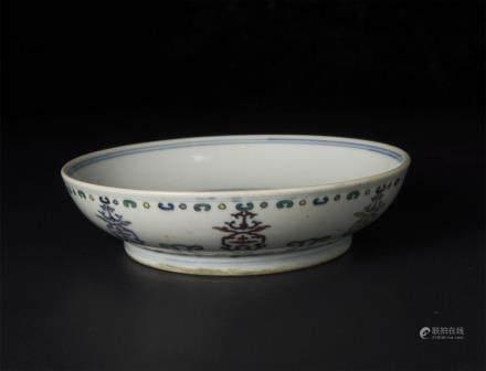 Doucai Shou-Character Bowl Qing Daoguang Seal Mark And Period