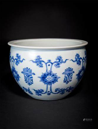 Blue and White Shou Character Small Jar Qing