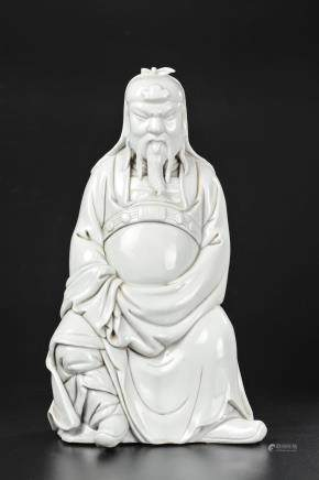 CHINESE BLANC DE CHIN FIGURE OF GUANDI