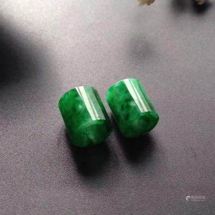 A LULUTONG DESIGN NATURAL ICY JADEITE PENDANT