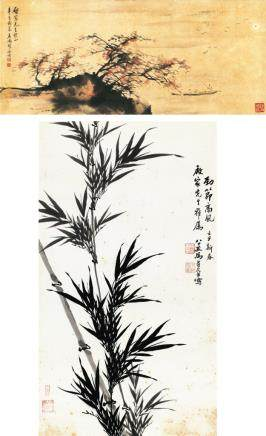 马寿华、胡念祖 劲节高风、泛舟(二件一组)