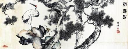 竹禅 松鹤