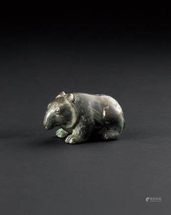 汉 青铜熊