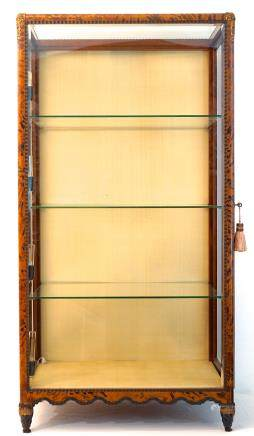 A tortoiseshell and ebonised display cabinet, Maison Franck, Antwerp, ca. 1900