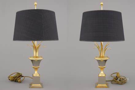 A pair of Maison Charles style lamps, 2nd half 20th C.