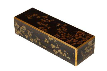 A LACQUER TWO-TIERED POEM BOX, BY SHUNSHO