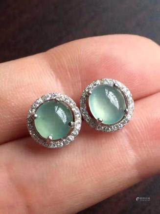 NATURAL BURMA JADEITE EARRINGS