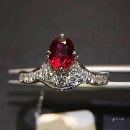 A NATURAL 18K RUBY RING