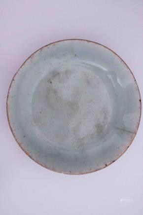 A DOUQING CELADON PLATE