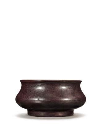 清十八世紀 鐵鏽花釉爐