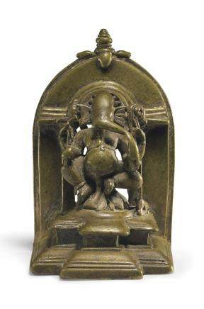A Bronze Shrine with Ganesha