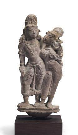 A Red Sandstone Mithuna couple
