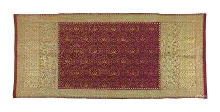 A Silk and Gold Brocade Ikat Songket