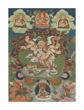 A Thangka depicting Pehar