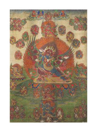 A Large Thangka of Chemchog Heruka