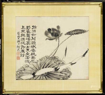 石濤(原濟) 1642-1718 荷藕