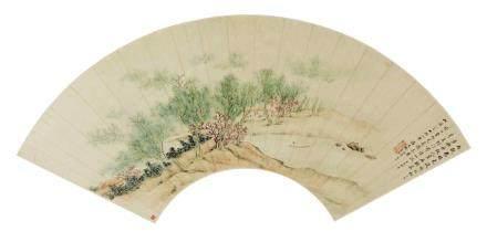 潘思牧 (1756-1843後) 渡頭雨歇