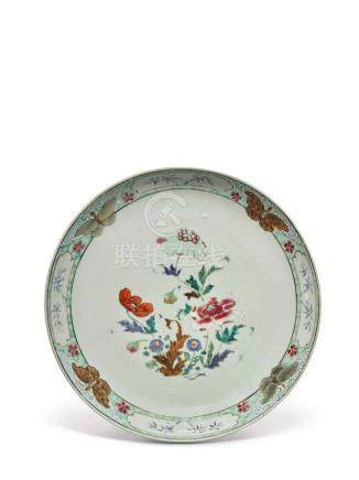 A PAIR OF FAMILLE-ROSE 'FLORAL' DISHES QING DYNASTY, YONGZHENG PERIOD