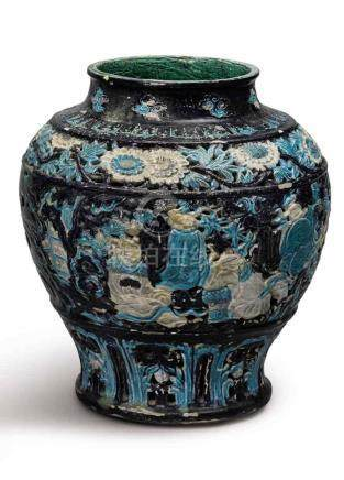 A 'FAHUA' RETICULATED JAR MING DYNASTY