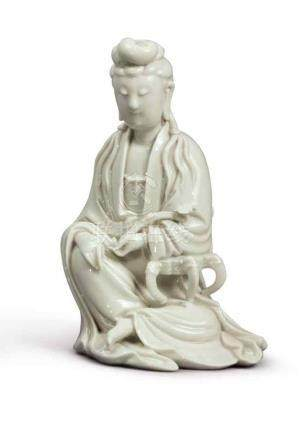 A 'DEHUA' FIGURE OF GUANYIN QING DYNASTY, 19TH CENTURY
